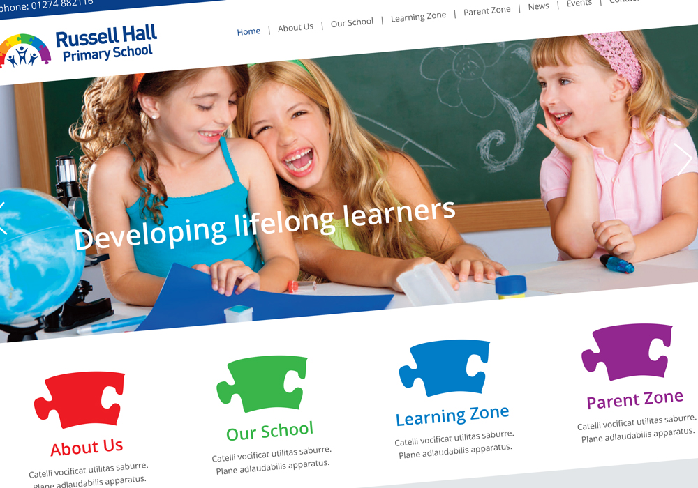 Russell Hall Primary School Updates Its Branding