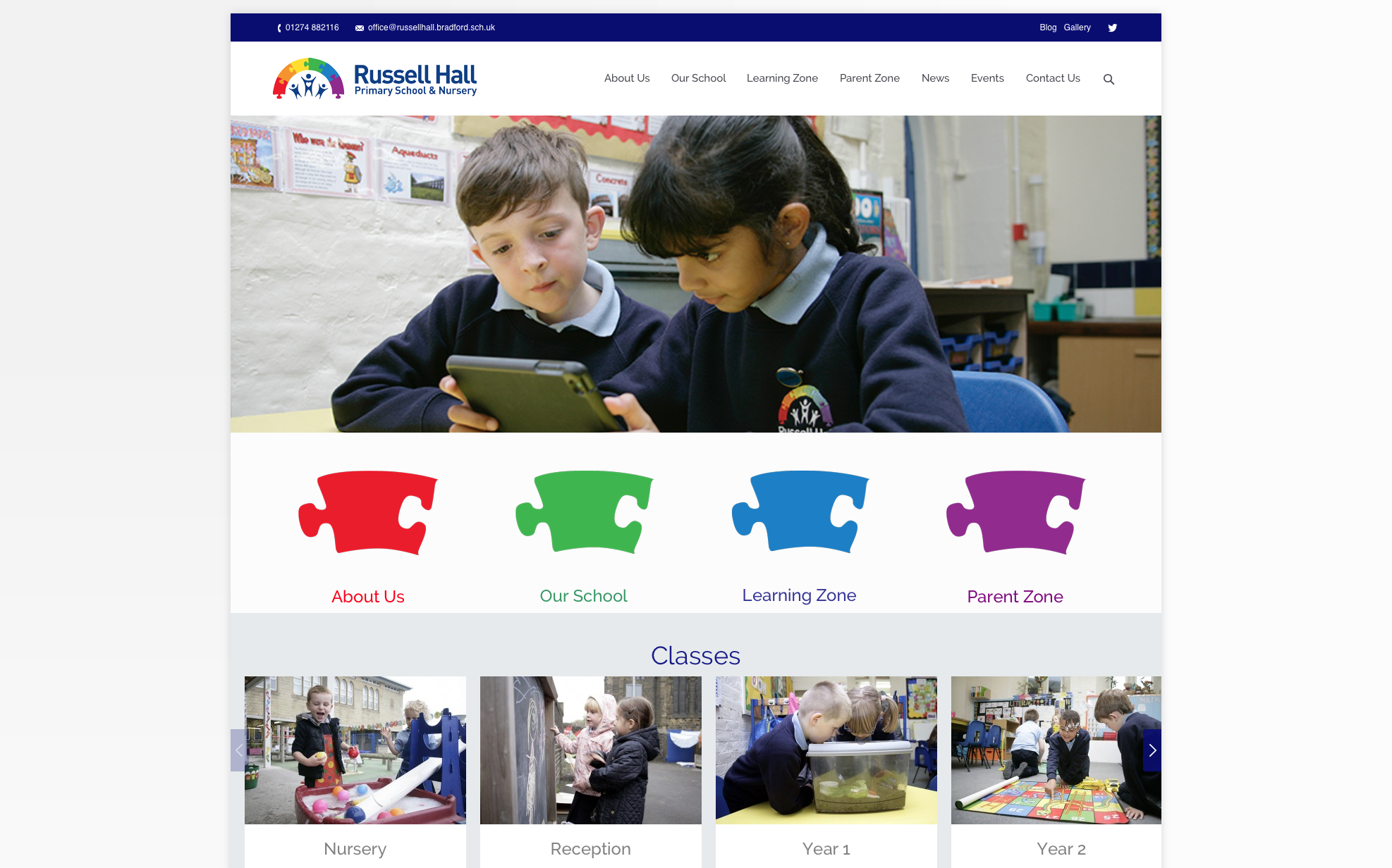 Russell Hall Website