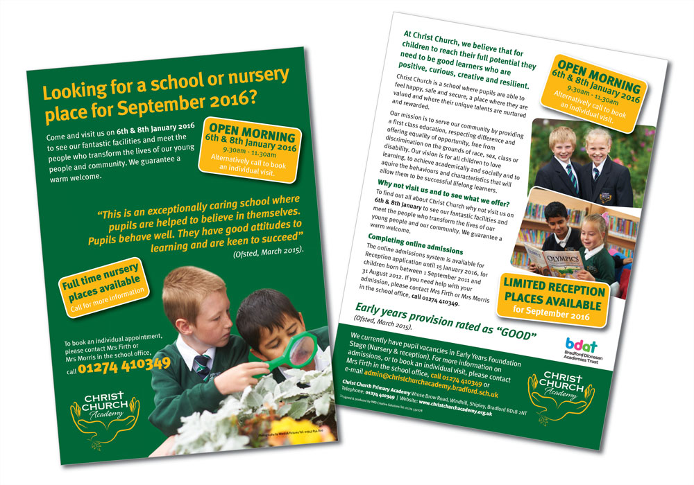 ChristChurchAcademy OpenDayLeaflet