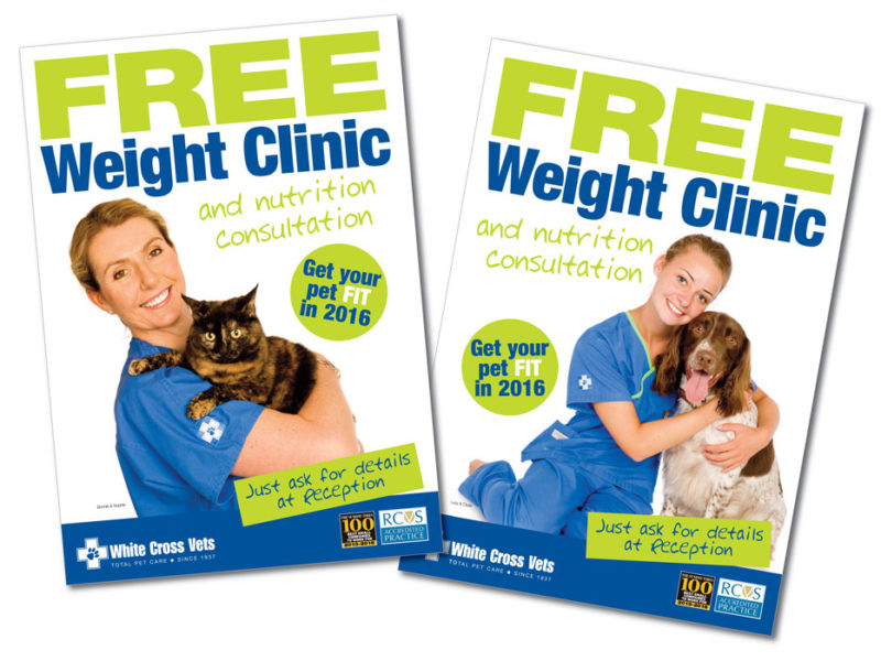White Cross Vets – Free Weight Clinic Poster Campaign